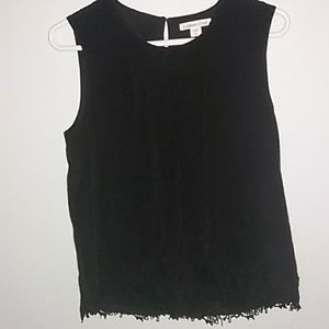 Coldwater Creek sleeveless black top size PM.